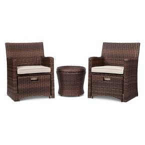 Halsted 5 Piece Wicker Small Space Patio Furniture Set   Threshold™ : Target