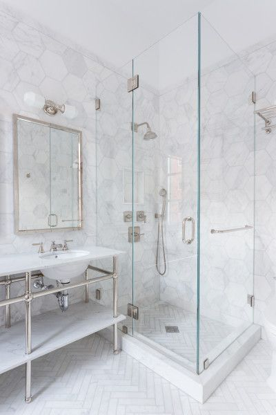 marble floor and walls. too much marble? | Marble bathroom ...