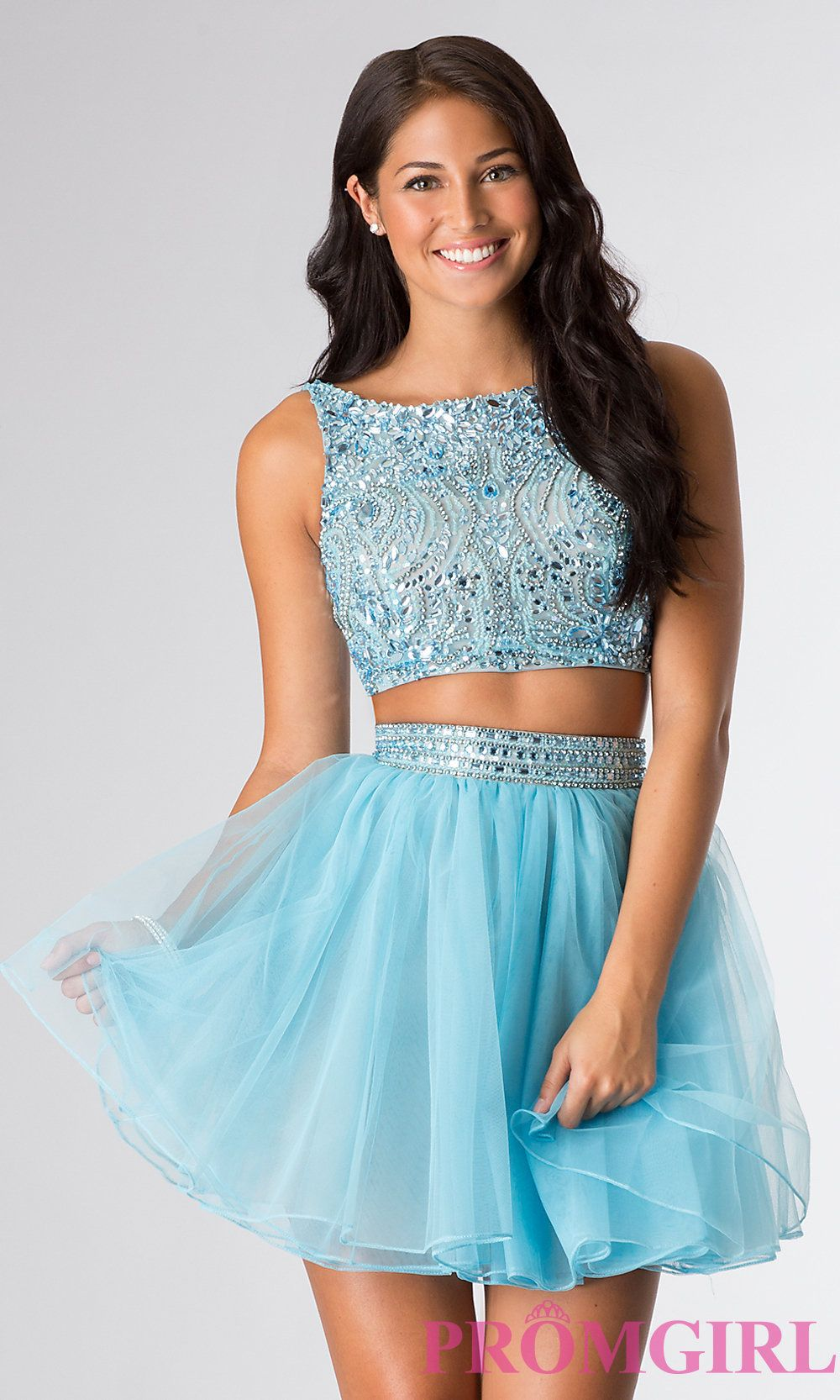 Short High Neck Two Piece Party Dress by Sherri Hill | I\'d Wear That ...