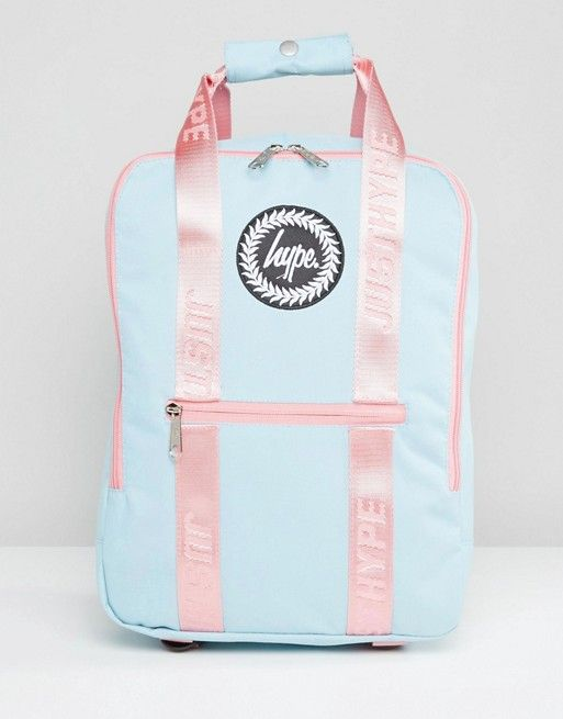 440fe5834 Hype Tote Backpack in Blue With Pink Straps