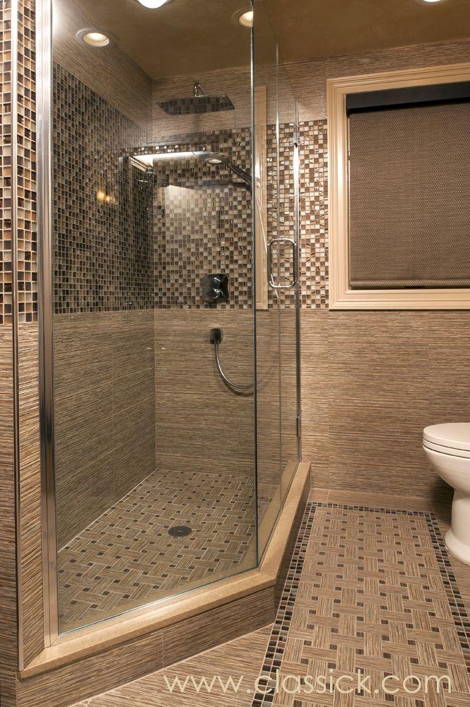 Brown/Beige Three-Quarter Bathroom | Pinterest | Rain shower, Brown ...