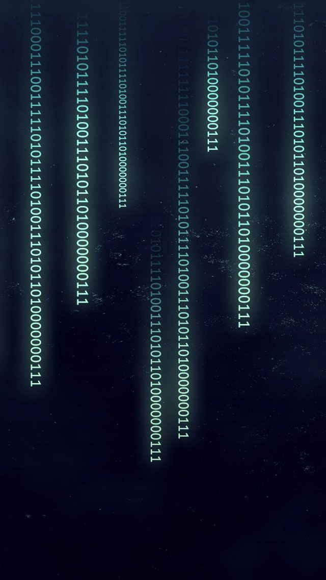 Binary Data IPhone 5s Wallpaper