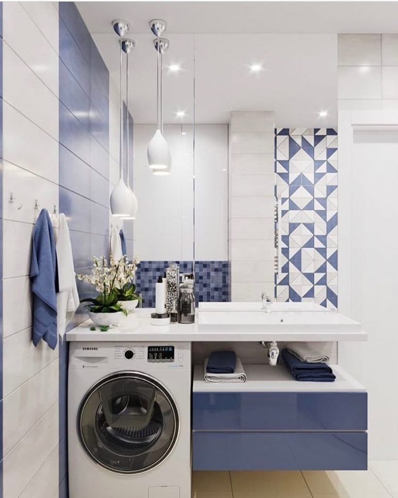Where to Put the Washing Machine in a Small Place | Batrooms ...