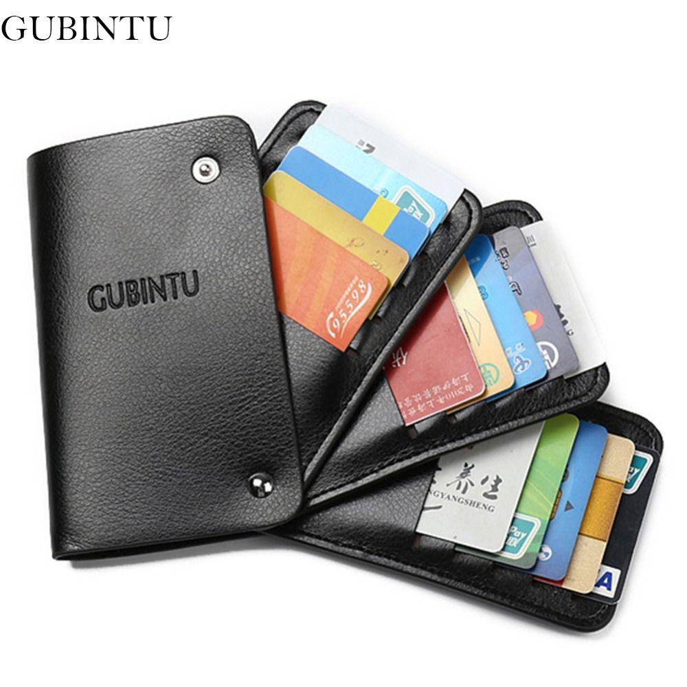 Gubintu pu leather women card holder wallets high quality