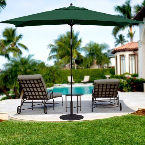 6 X 10 Wood Rectangular Market Umbrella Patio Umbrellas