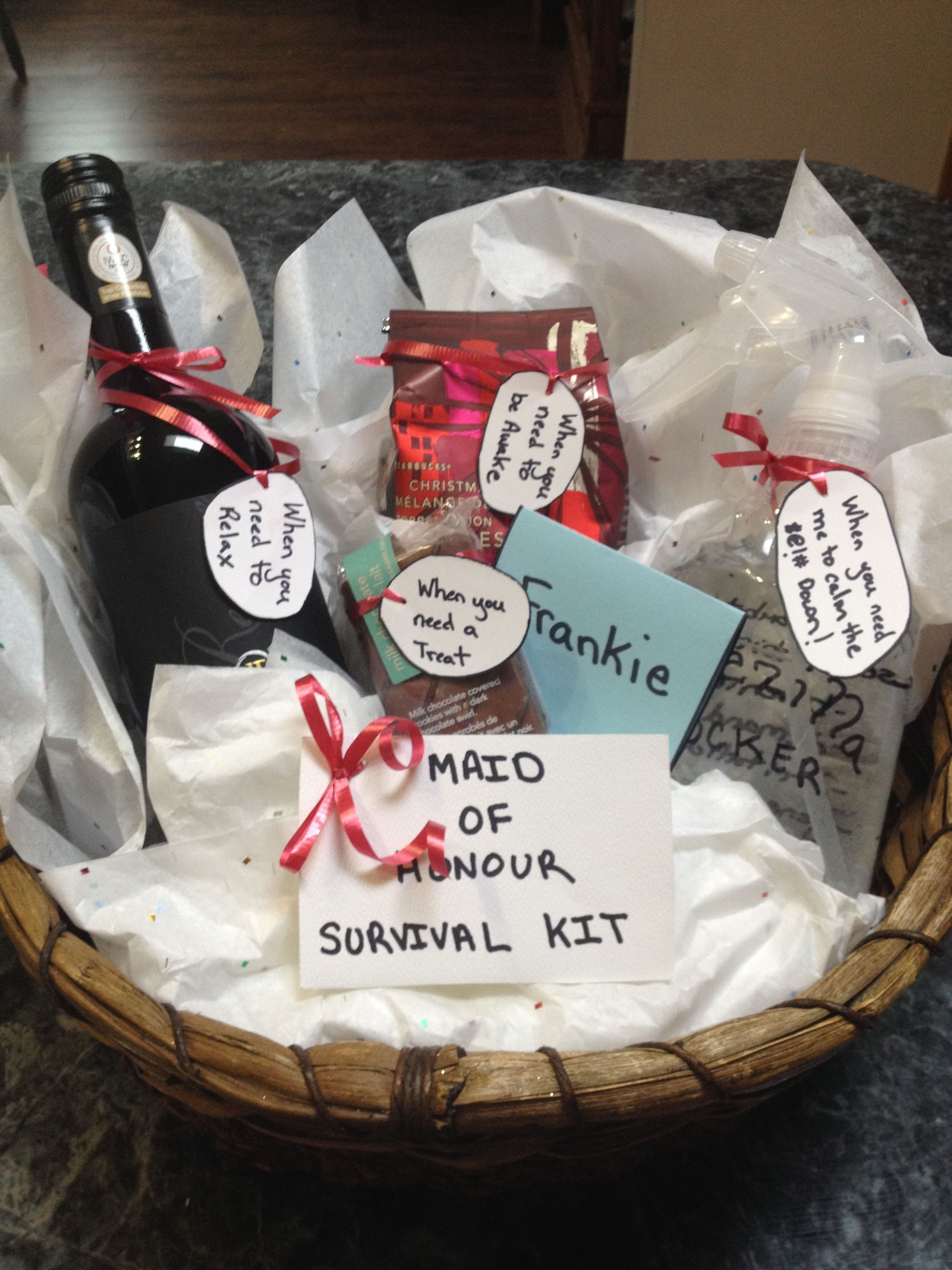 Diy maid of honour gift maid of honour gifts maid of