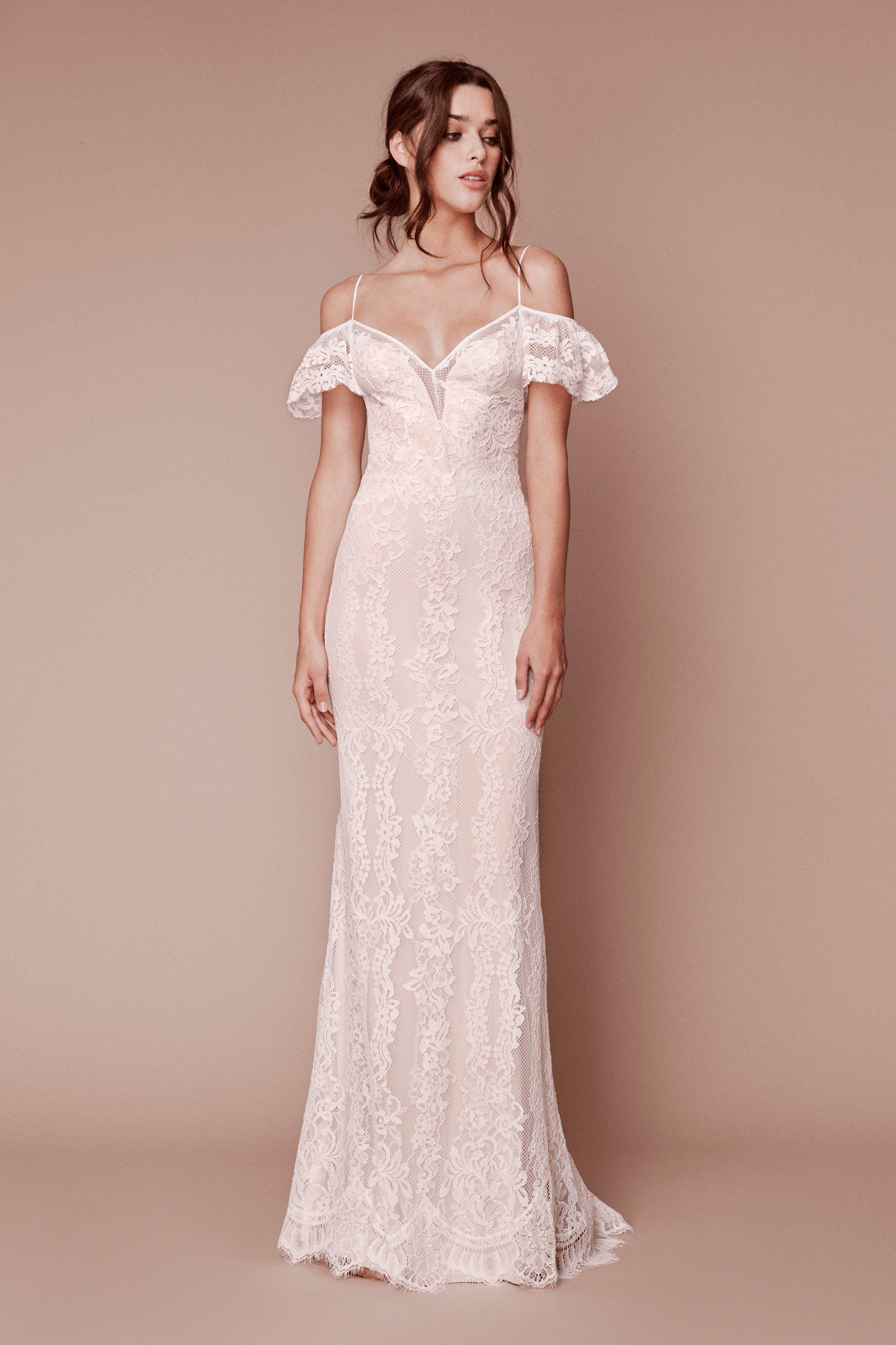Tadashi shoji bridal fall 2019 fashion show wedding