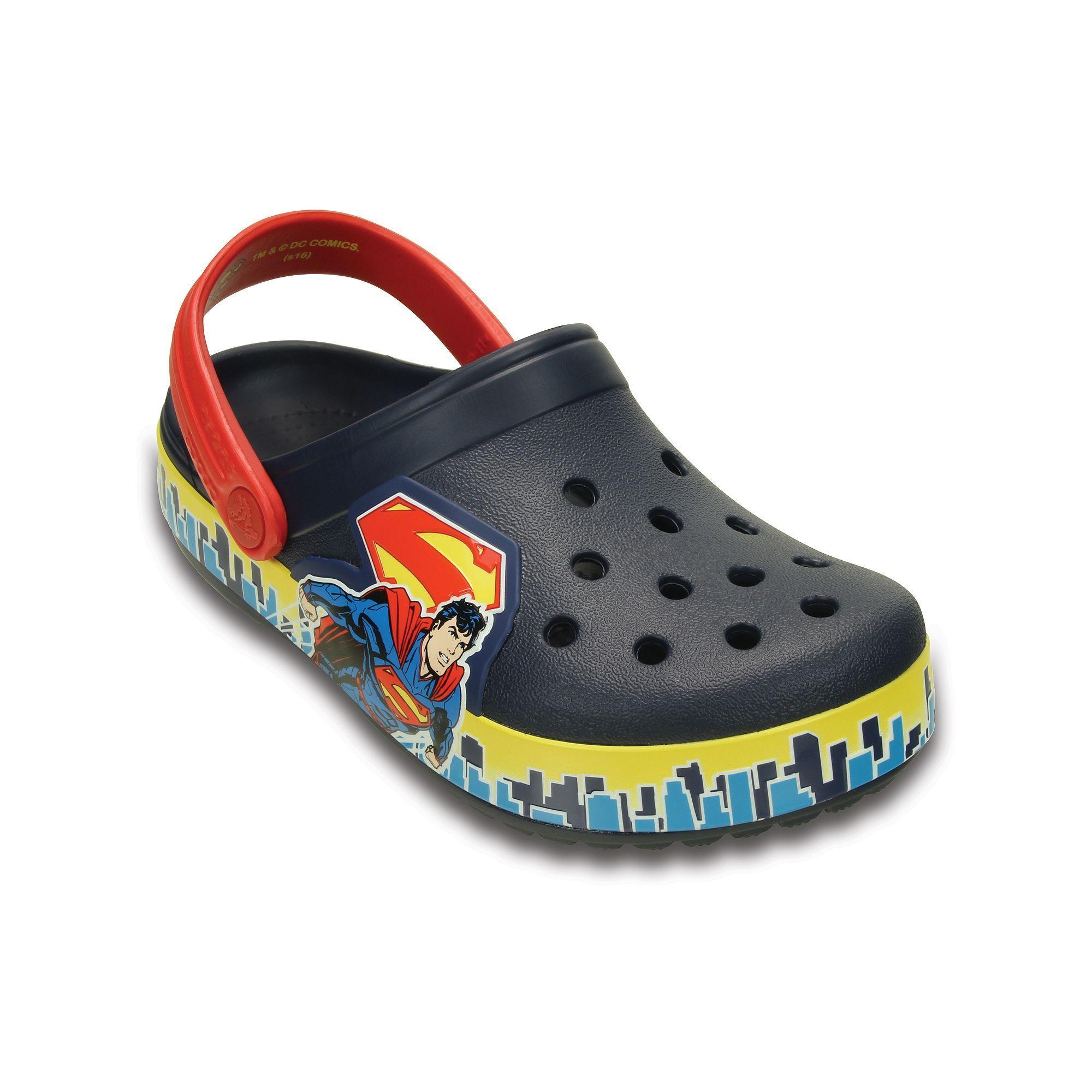 3bb1f003bca99 Crocs Crocband Superman Kids  Glow-In-The-Dark Clogs
