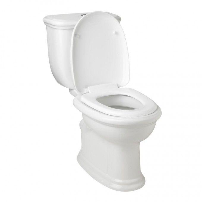 Kennard Dual Flush European Rear Outlet Toilet Two Piece Elongated White Toilet Dual Flush Toilet Flush