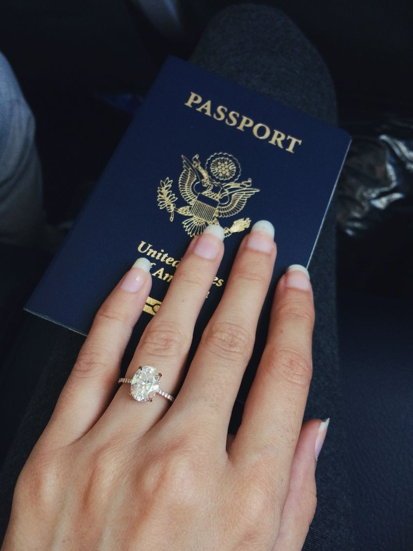 Oval moissanite engagement ring in rose gold from the true gem