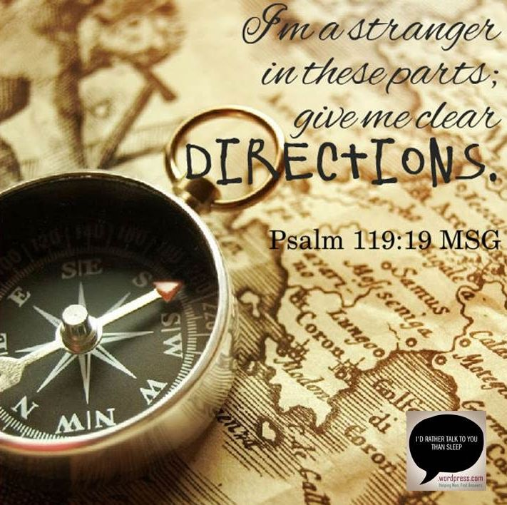 Quotes on Direction and Destiny  Compass logo and Psalm 119