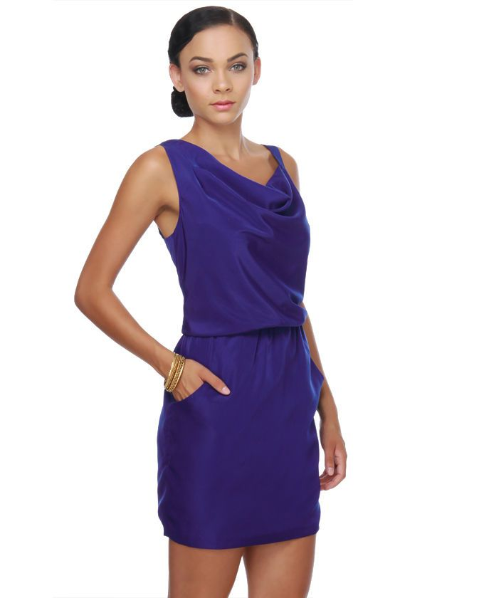 $52 Royal Blue Dress lulus (http://www.lulus.com/products/blue-haiku ...