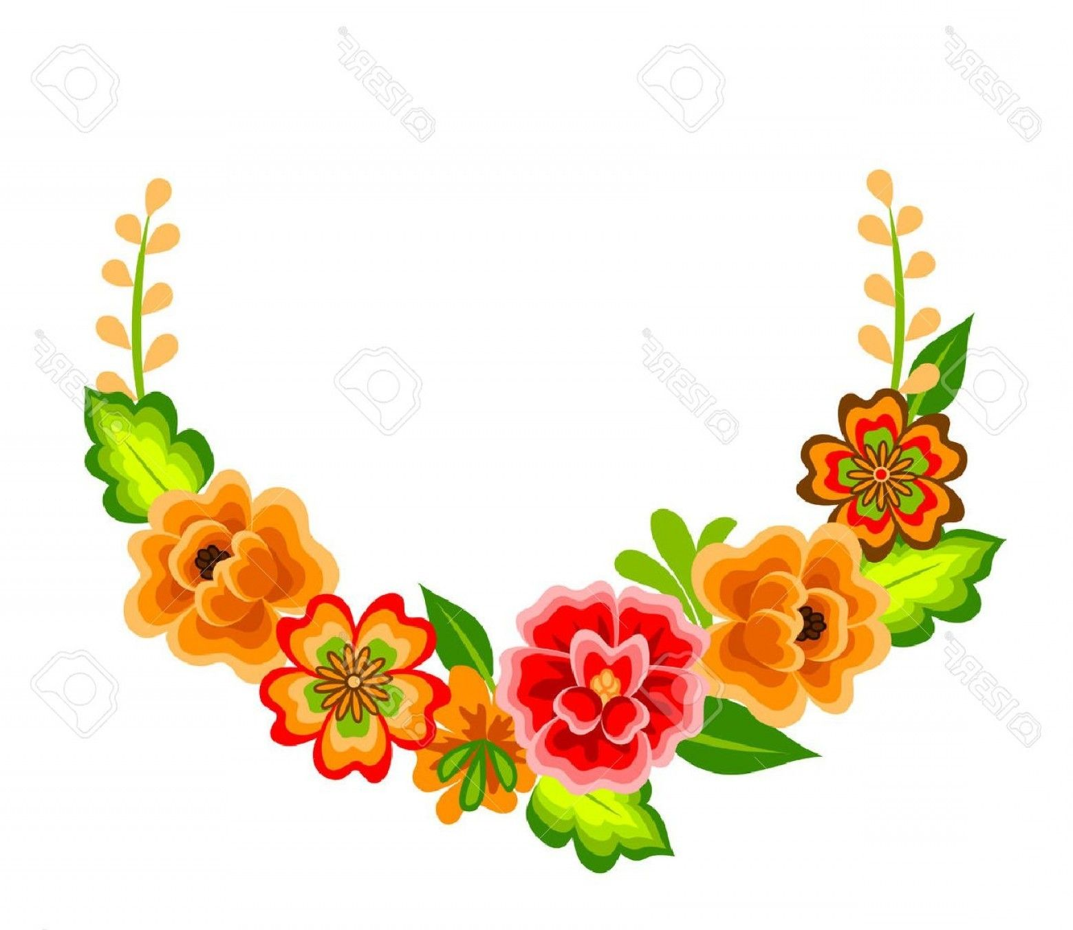 Pin By Designer Pposh On Events Decorative Flower Border Mexican Flowers Flower Border Png