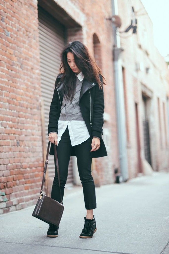 Wedge sneakers fashion blog 20