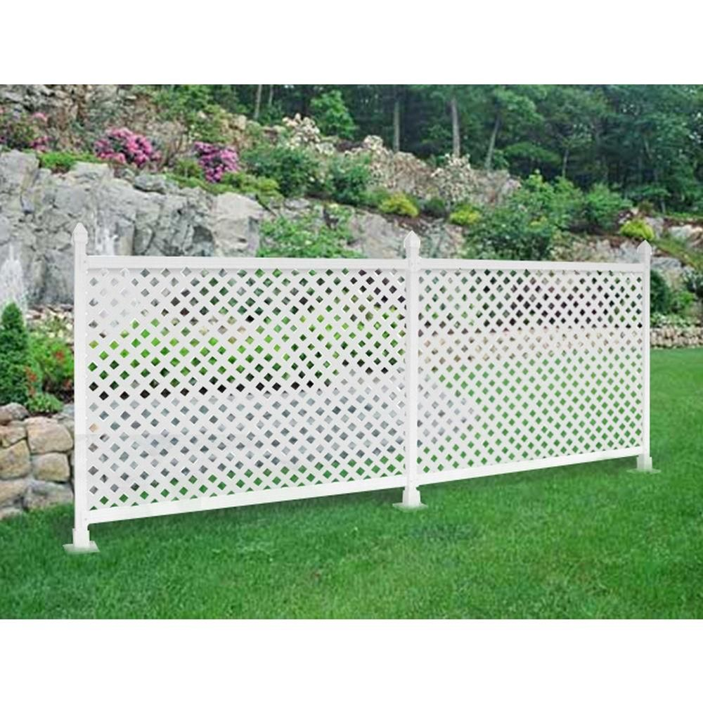 Snapfence 3 Ft H X 4 Ft W White Modular Vinyl Lattice Fence Panel 4 Pack Lattice Fence Panels Lattice Fence White Vinyl Fence