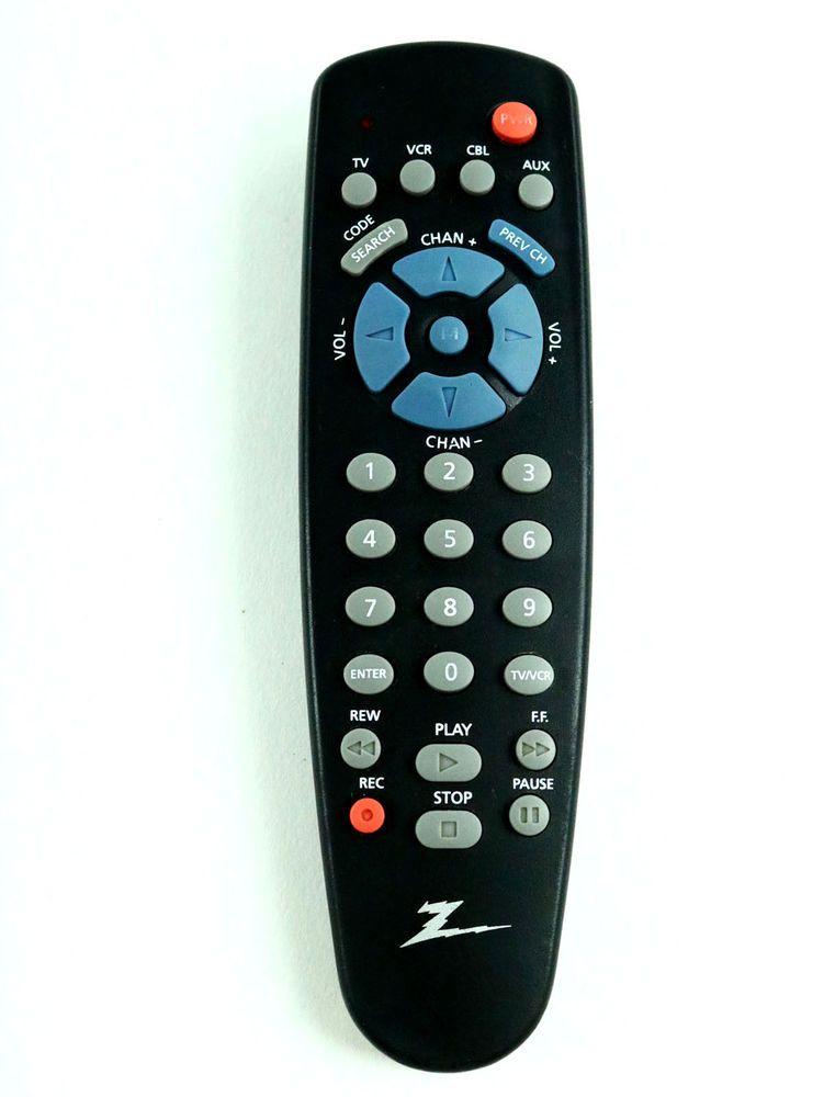 Zenith Universal Remote Control For Tv Vcr Cable Aux Model Zen400c