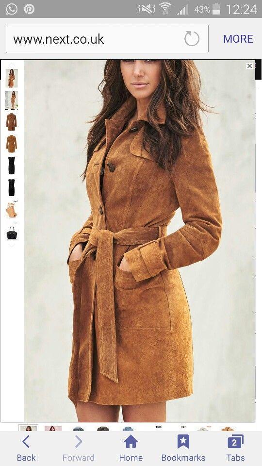 5a6666de9 Next - Suede Mac Michelle Keegan, Belted Coat, Fur Coat, Style Challenge,