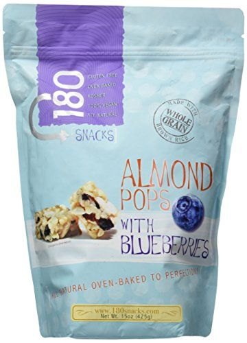 180 Snacks Almond Pops w/Blueberries (Almond Cashew Pops w/Mango &  Pineapple)