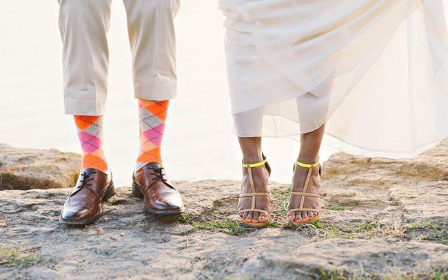 Neon Beach Wedding Inspiration