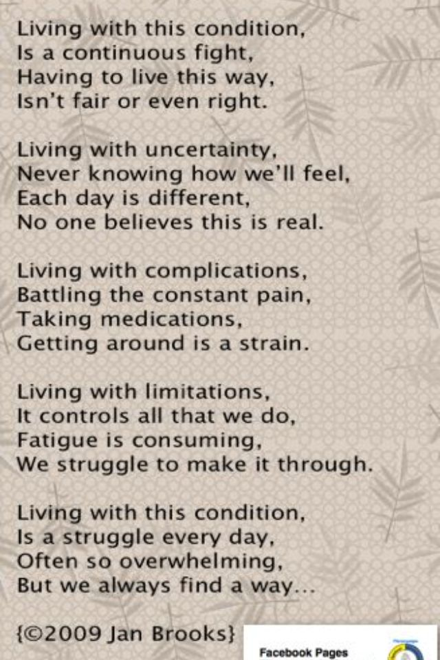 Living w/chronic pain