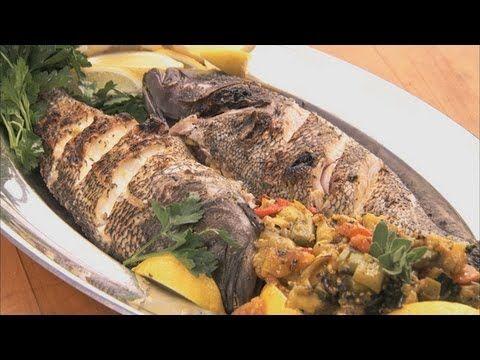 سمك قاروص مشوى بالزيت و الليمون على طريقة الاسكندرانية بالصور من Emadeldin كوكباد Stuffed Peppers Garlic Pesto Chicken Sea Bass