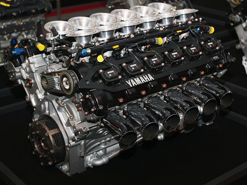 1992 Yamaha V12 DOHC Formula 1 Racing Engine- Model OX99 Vehicle - best of jegs blueprint crate engines