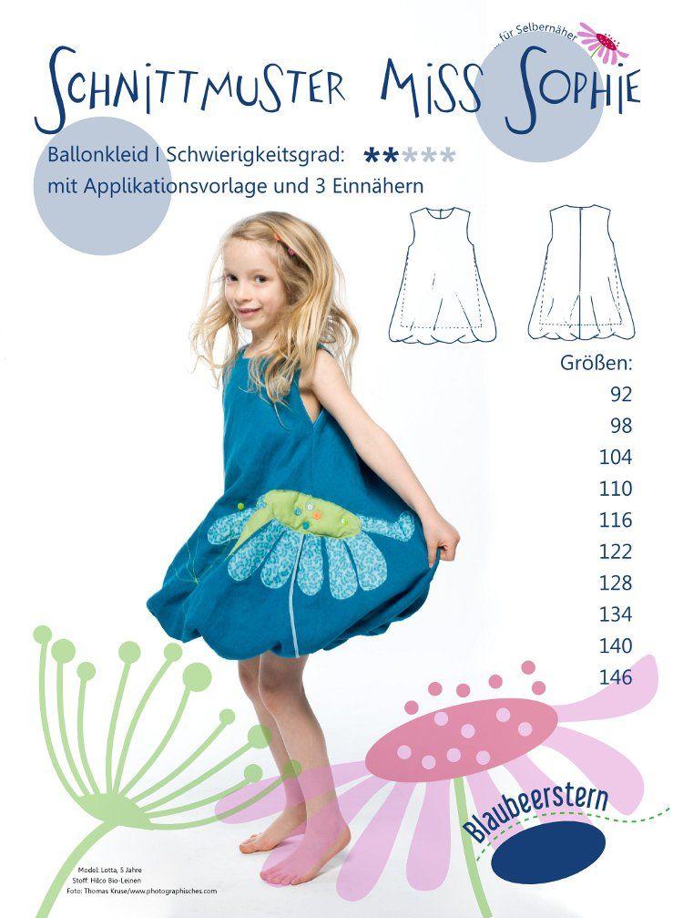 Schnittmuster Ballonkleid Miss Sophie von Blaubeerstern | Kleider ...