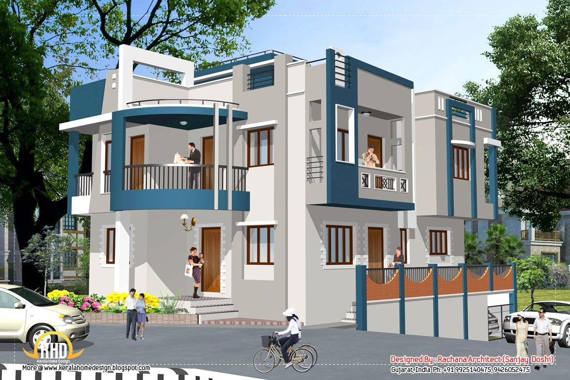 India house design Elevation 2435 SqFt Architecture