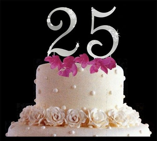 25th wedding anniversay cake toppers 25th Anniversary ...