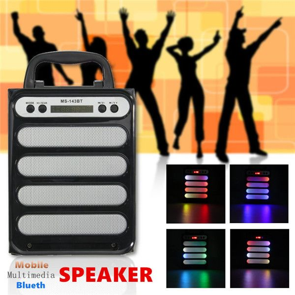 Outdoor Bluetooth Wireless Portable Speaker Super Bass with USB TF AUX FM Radio