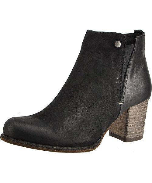 Botki Na Drewnianym Obcasie Karino Edna 0940 003 P Black Damskie Kozaki Karino Boots Shoes Footwear