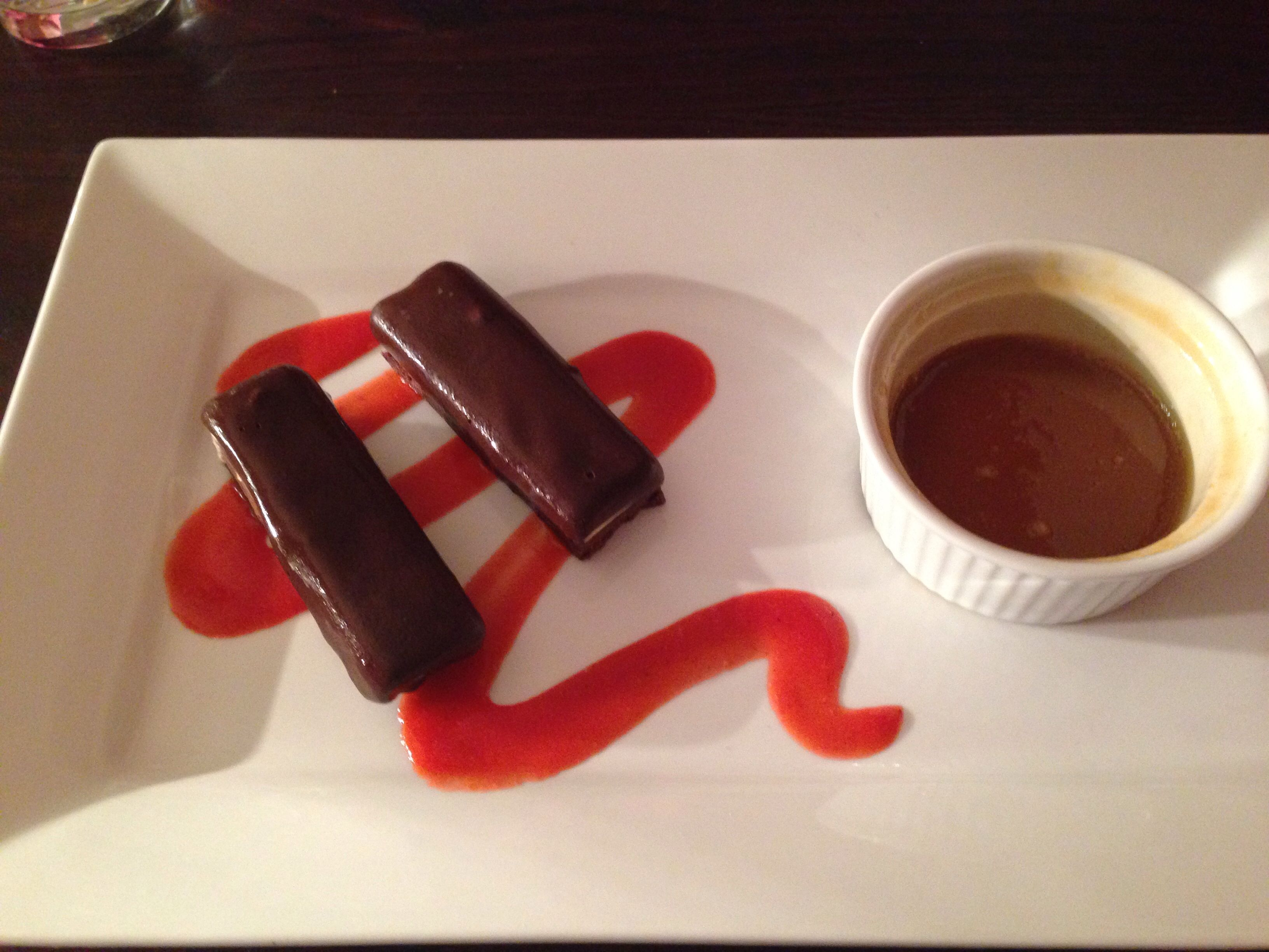 House in the Hill Eskimo Bars with warm salted caramel dipping sauce a heavenly combination