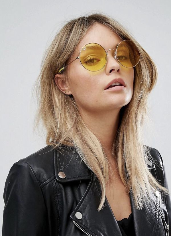 Ray ban round yellow sunglasses | Products in 2019 | Round