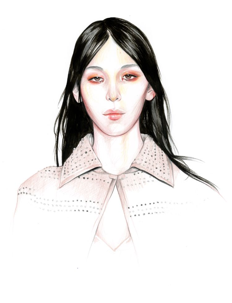 Do you like my tight sweater ? - Caroline Andrieu: Issa Lish for Givenchy couture spring 2016