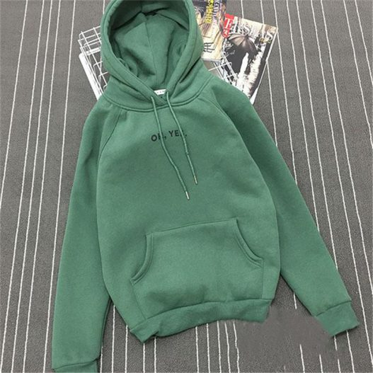 Fashion Korean Women/'s Hoodies Letter Printed Pullover Coat Hooded Sweatshirts