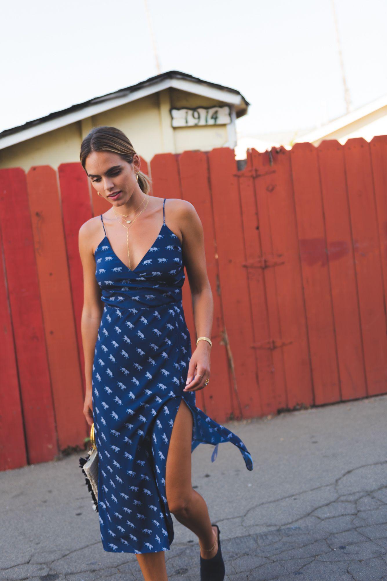 90ee5f91836 Accessorized Outfit Ideas  Cleobella Revel Slip Dress Tiger Godess Animal  Print Midi Slip Dress Transitional
