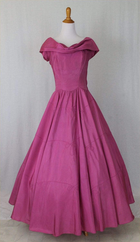 Vintage emma domb california us us dark pink rayon us
