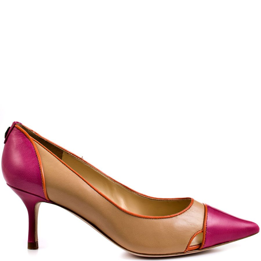 f29a5c89ba Get what you want in the Ivee from Ivanka Trump. A lively pink and orange  add a pop to this all over beige style. A 2 3/4 inch kitten heel and  pointed ...