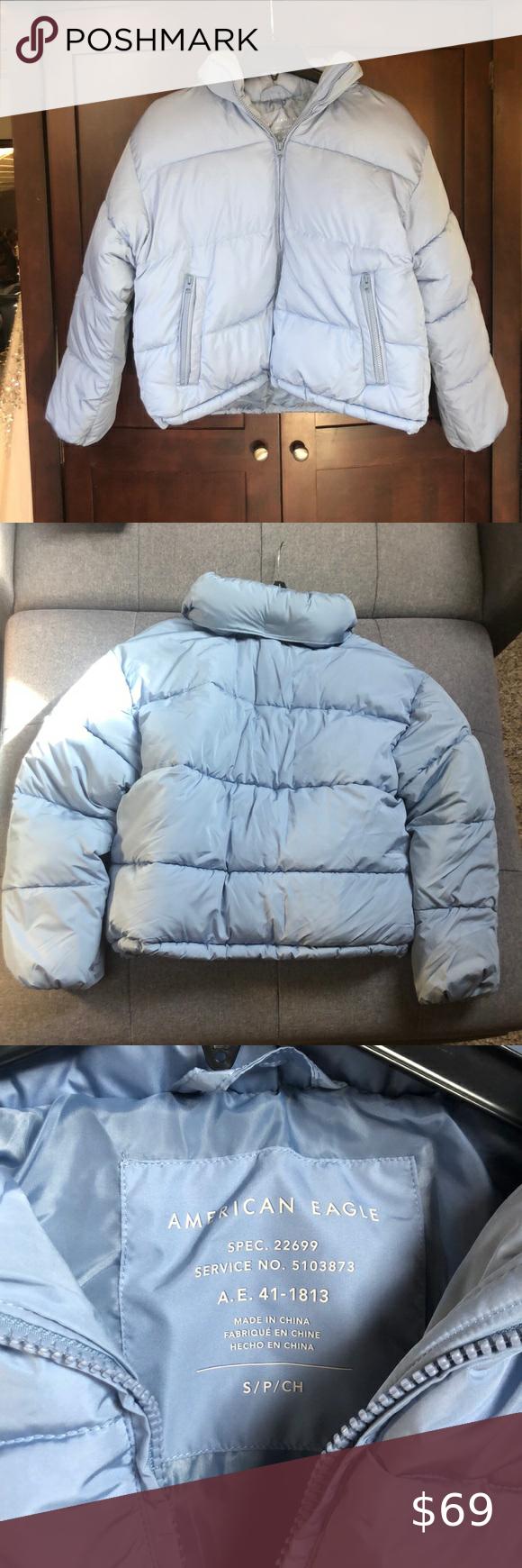 American Eagle Blue Winter Puffer Jacket Winter Puffer Jackets Coats Jackets Women Puffer Jacket Fur Hood [ 1740 x 580 Pixel ]