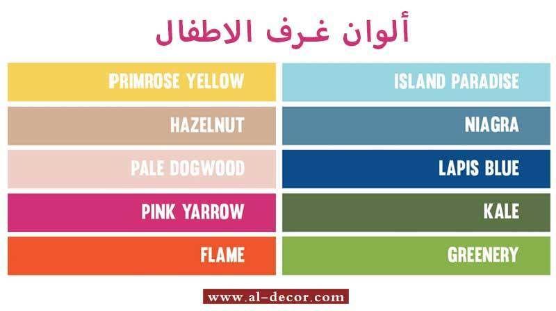 أحدث درجات الوان غرف الاطفال Kids Bedroom Decor Pink Yarrow Lapis Blue