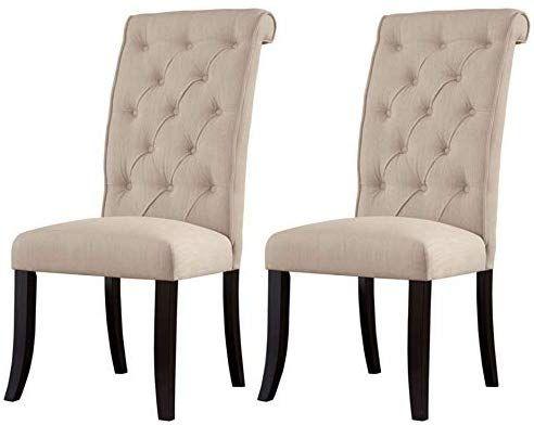 Amazon Com Ashley Furniture Signature Design Tripton Dining Room Side Chair Set