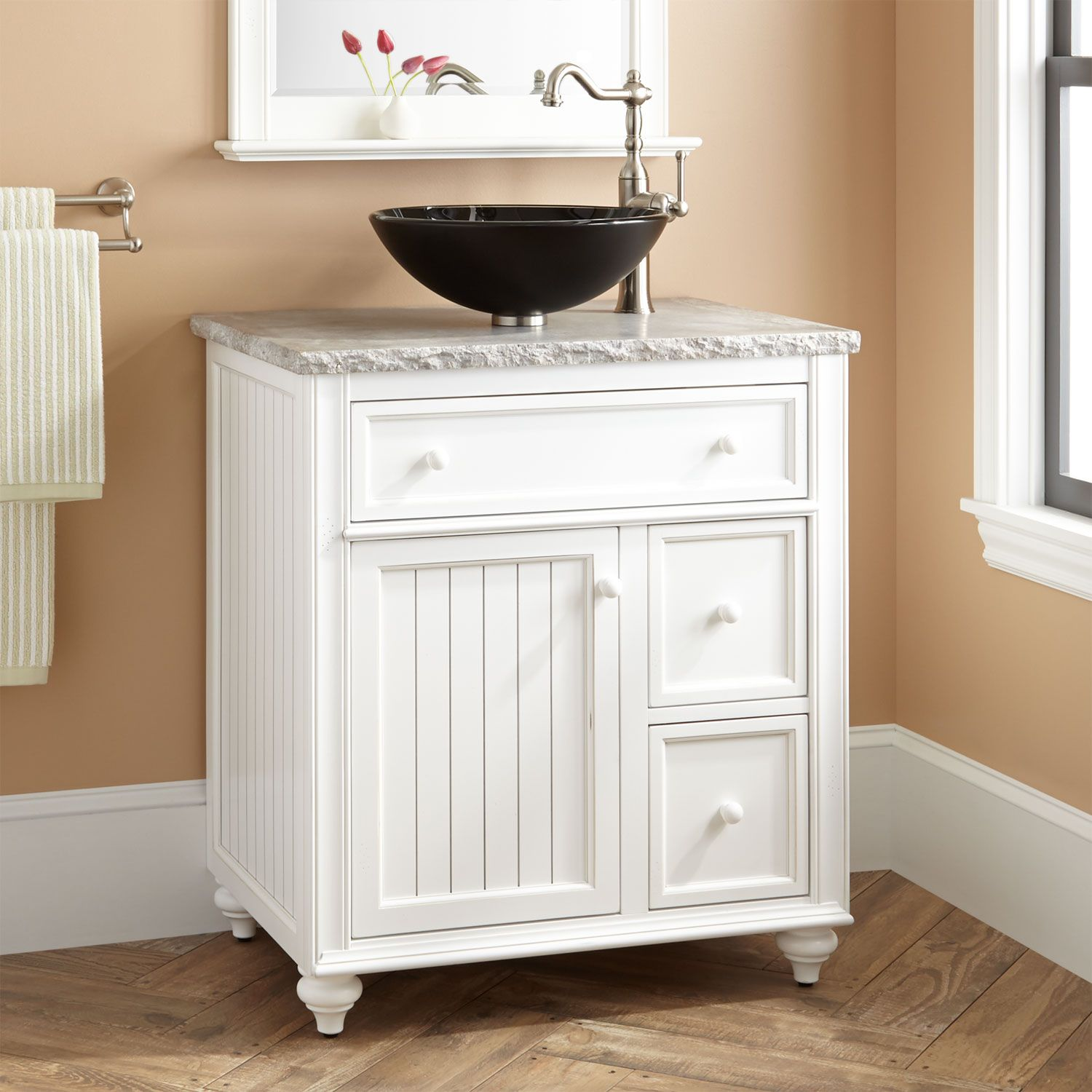 30 Cottage Retreat Vessel Sink Vanity White With Images