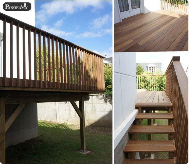 Terrasse sur pilotis en bois exotique cumaru premium garde corps en ipé bourg la reine 92