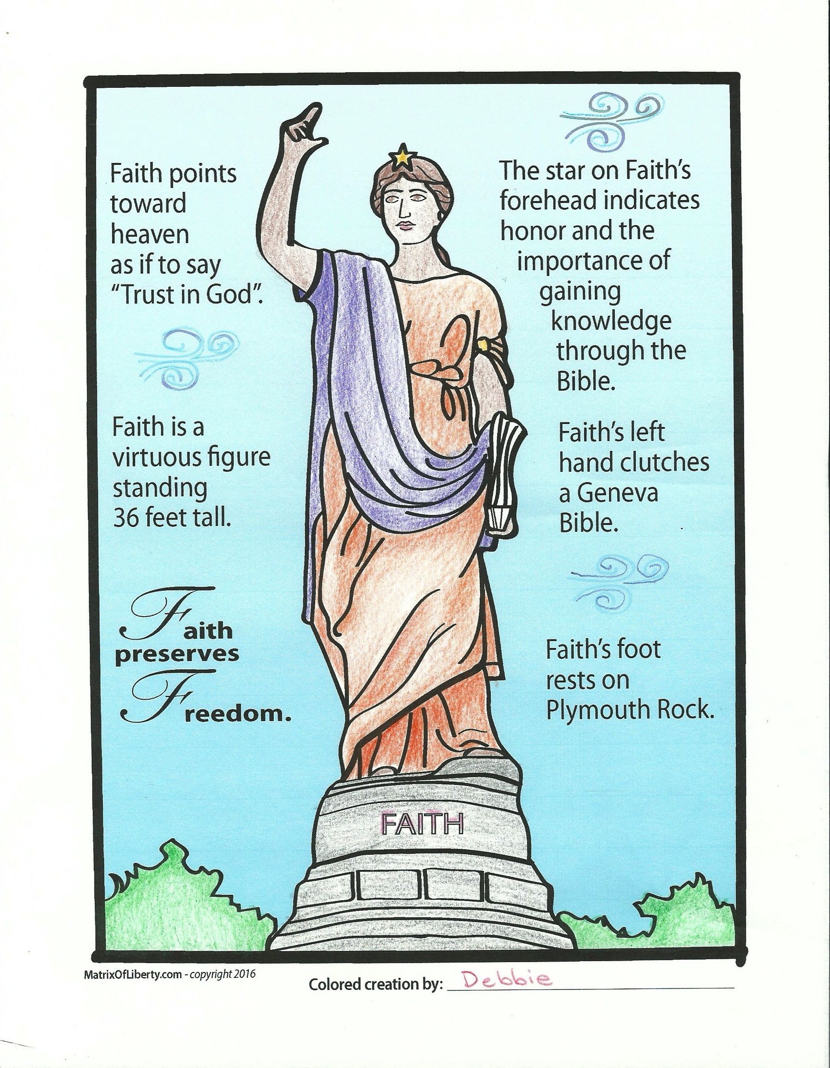 A finished masterpiece! #Free #Coloring page! | Matrix of Liberty ...