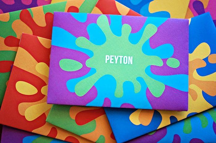 Paint Splash Invitations From Rainbow Art Painting Party