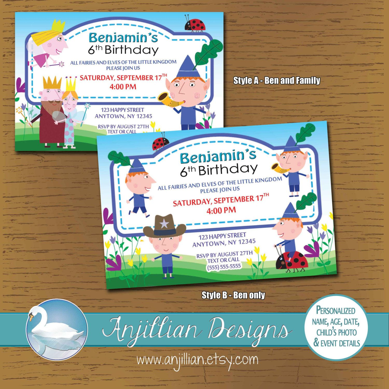 Nick Jr\'s Ben and Holly Printable Birthday Invitation by Anjillian ...