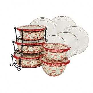 temp-tations® Old World 13pc. Round Baker Set with Lid-Its