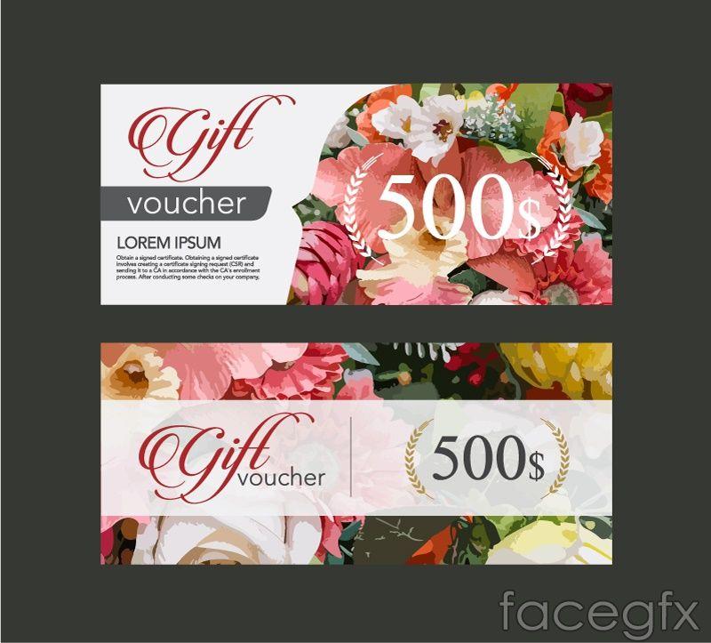 2 flower gift card vector biz pinterest advertising design 2 flower gift card vector yadclub Gallery