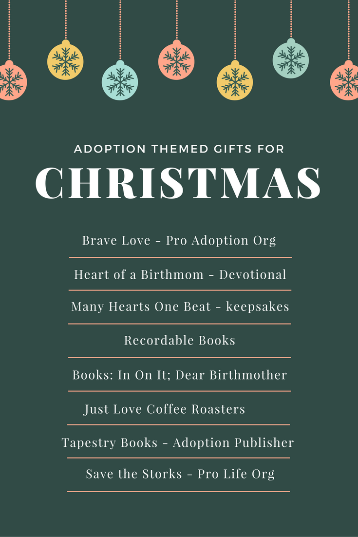 Christmas gift ideas for birth mothers, friends who are adopting, or family members when you are adopting. @AdoptionFargo