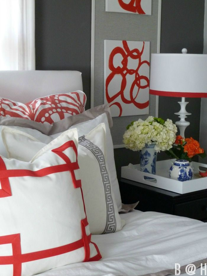 Bedroom Reveal--Tips to update your space on a budget with some DIY goodness! via Bliss at Home